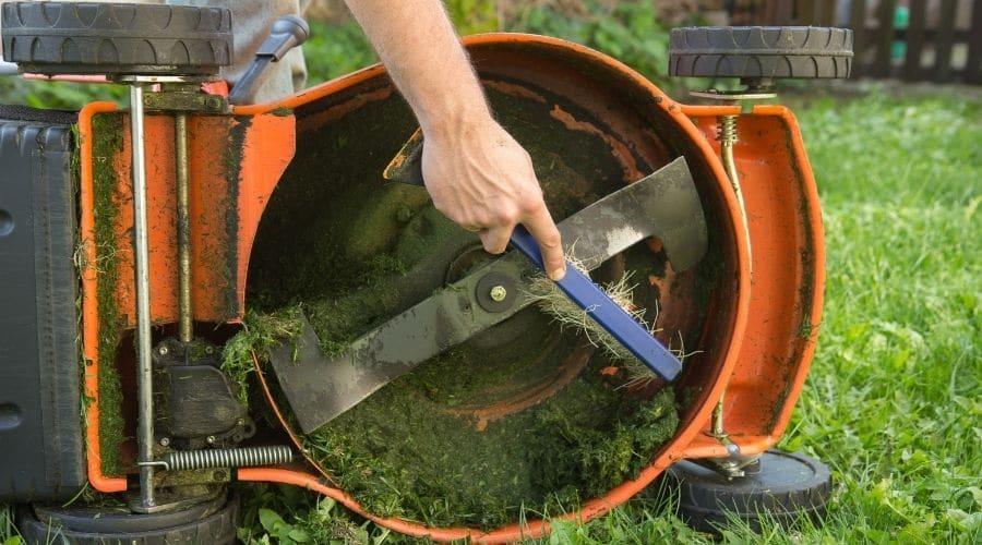 limpiar tu cortadora de césped
